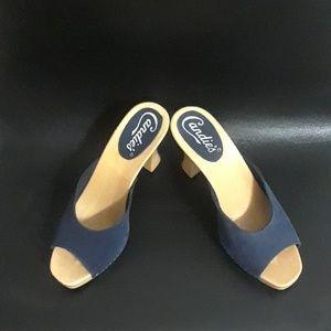 CANDIES 1980's Vintage Open Toe Clog Sandals 💙